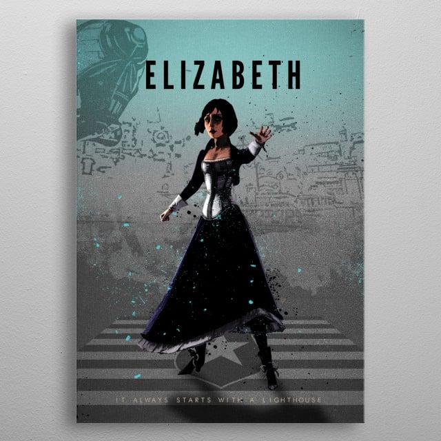 Legends of Gaming - Elizabeth - From Bioshock Infinite metal poster