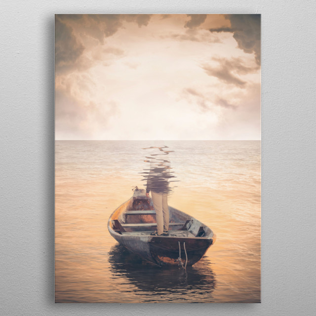 Glassea metal poster