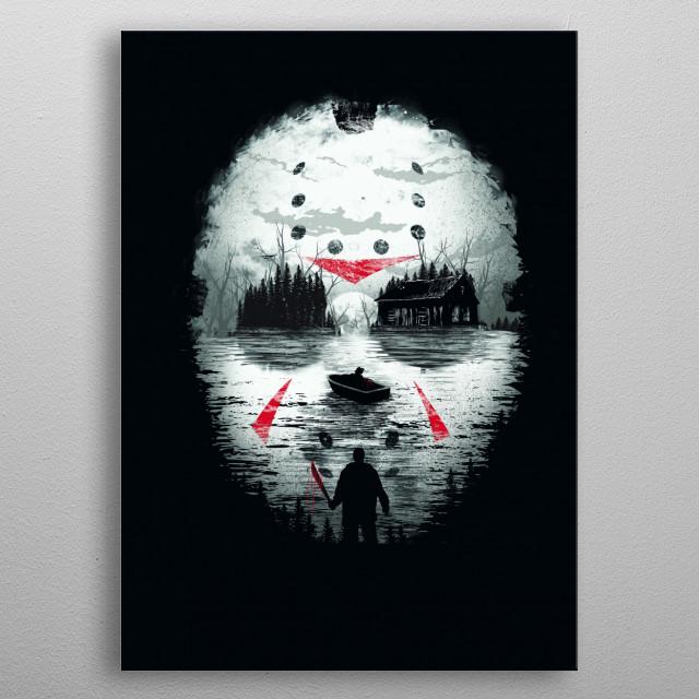 Friday Night Terror metal poster