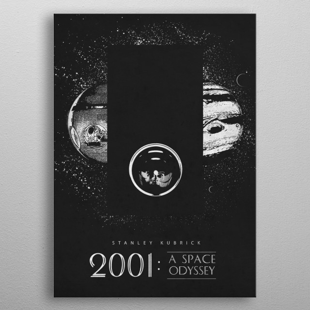 2001: A Space Odyssey metal poster