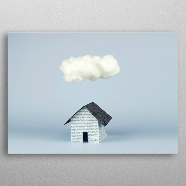 A cloud over the house metal poster