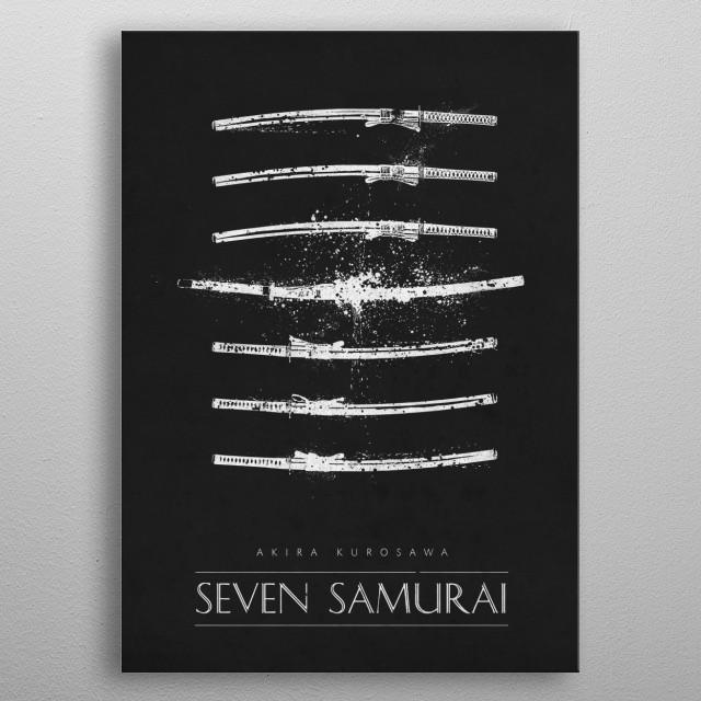 Seven Samurai metal poster