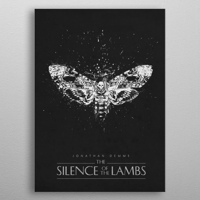 The Silence of The Lambs metal poster