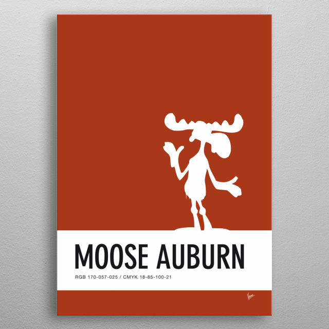 No19 My Minimal Color Code poster Bullwinkle  metal poster