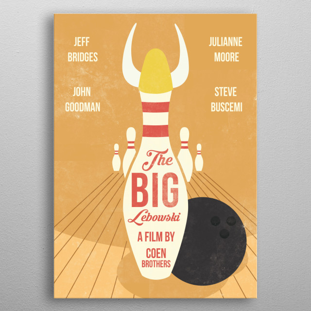 The Big Lebowski art movie inspired. metal poster