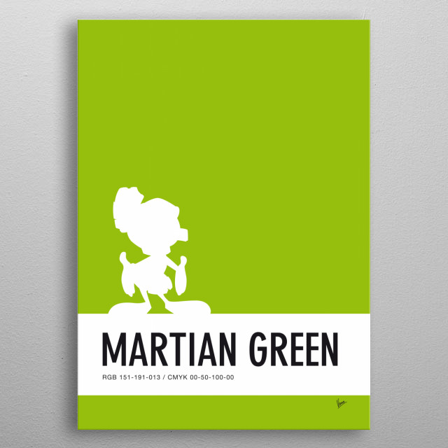 No15 My Minimal Color Code poster Marvin  metal poster
