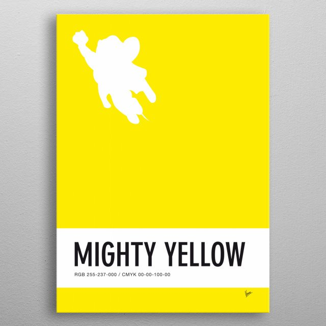 No02 My Minimal Color Code poster Mighty Mouse  metal poster
