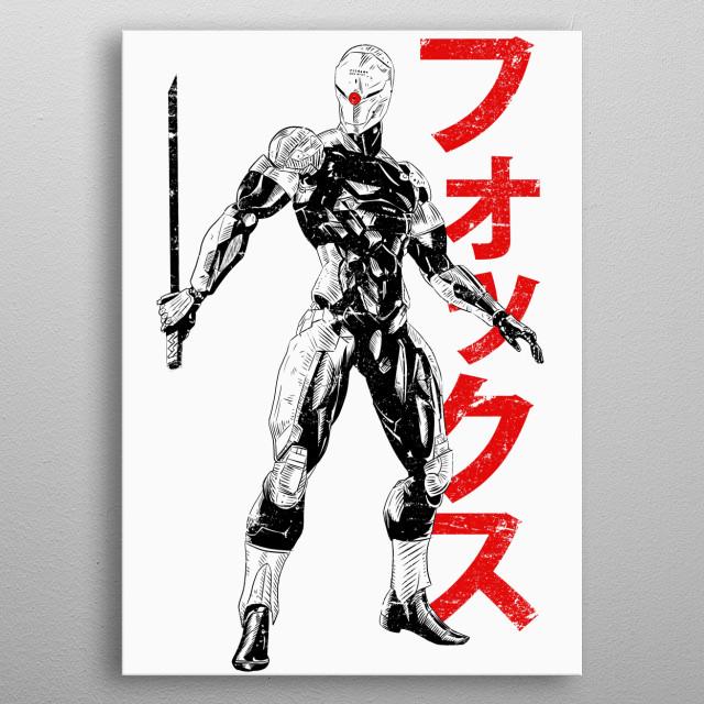 Gray Fox metal poster
