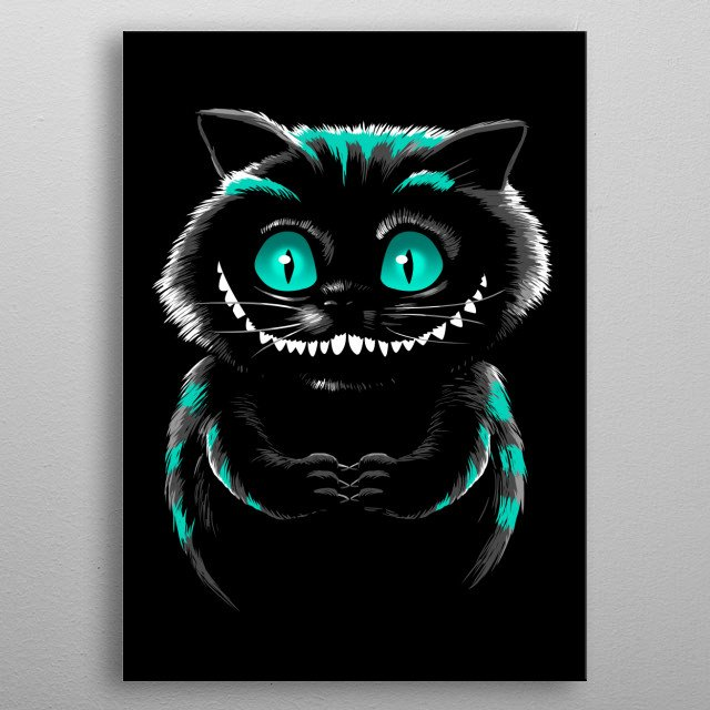 Green eyes metal poster