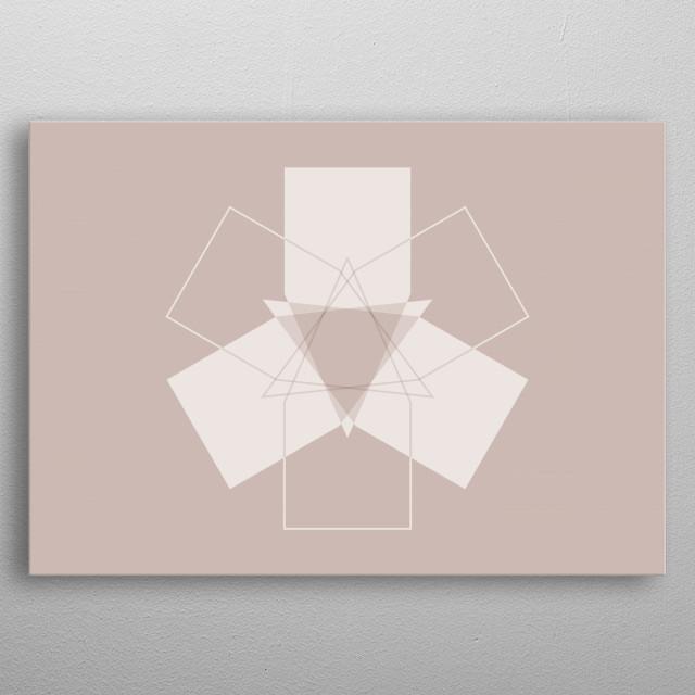 Symmetrical Geometric Design #11 metal poster