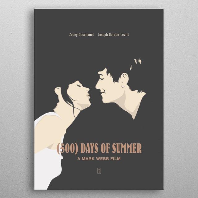 (500) DAYS OF SUMMER: Minimalist Movie Poster - Zooey Deschanel, Joseph Gordon-Levitt, Mark Webb metal poster