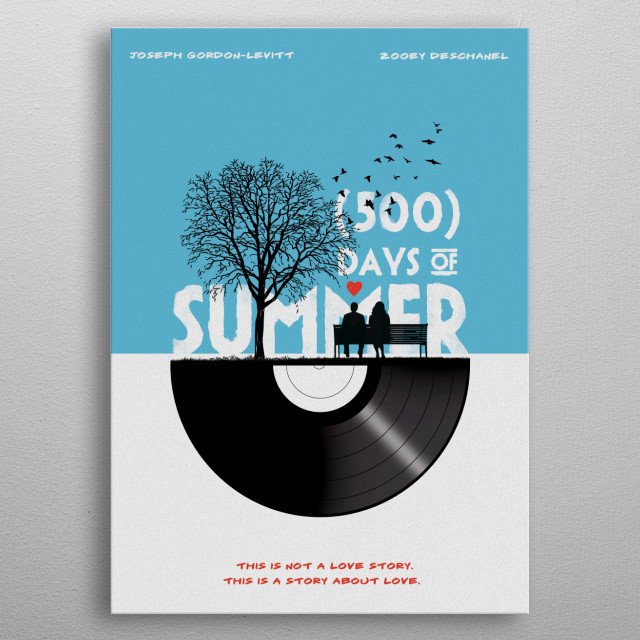 500 days of summer art movie inspired metal poster