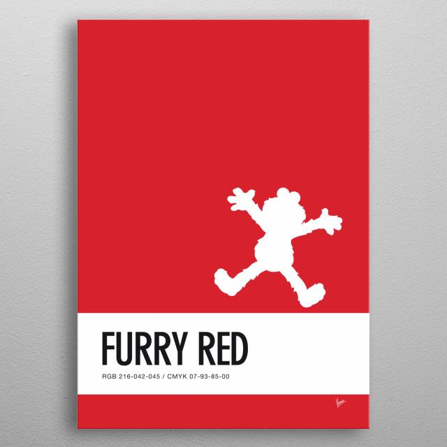 No30 My Minimal Color Code poster Elmo metal poster