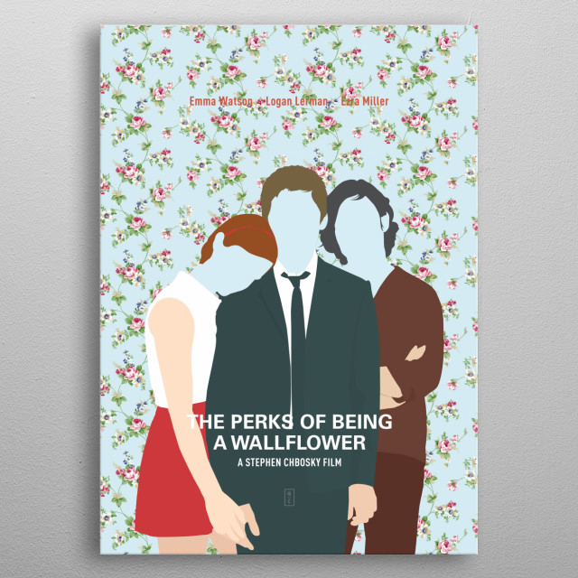THE PERKS OF BEING A WALLFLOWER: Minimalist Movie Poster - Emma Watson, Logan Larman, Ezra Miller, Stephen Chbosky metal poster