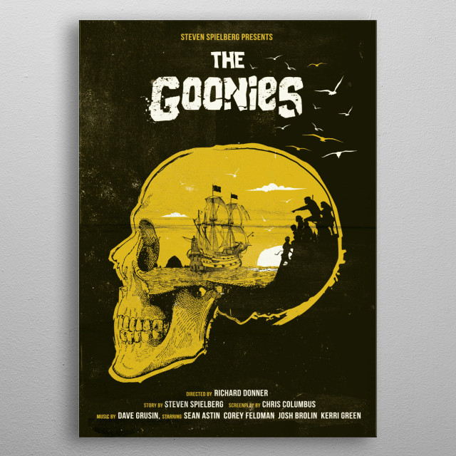 The goonies art movie inspired. metal poster
