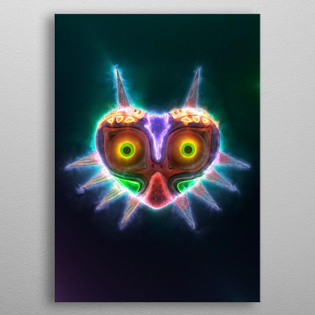 3D Majora's Mask Emblem. (modeling, post-production, edition  metal poster