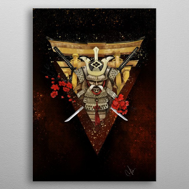 The Warrior in me metal poster