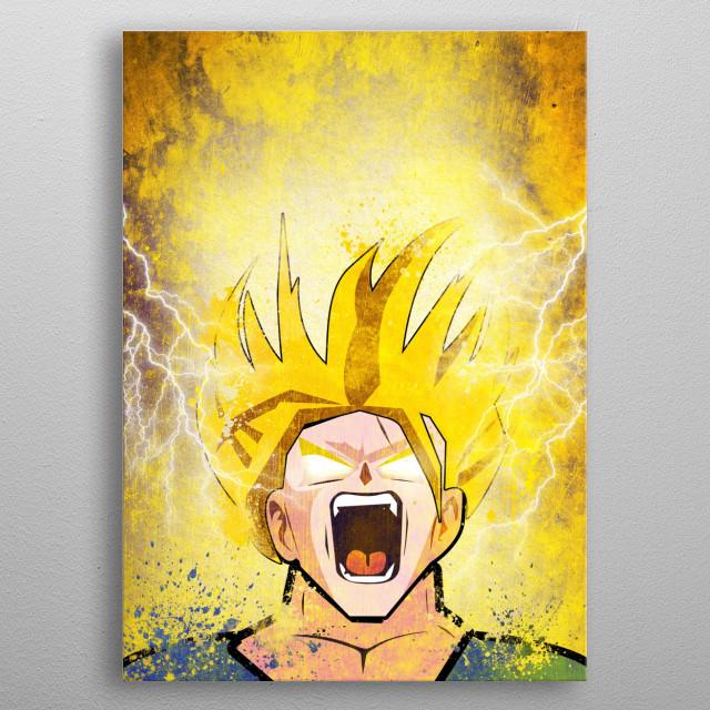 Goku Power! metal poster