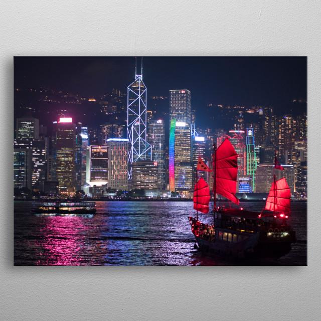 ship Hong Kong metal poster