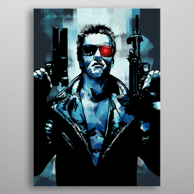 Terminator Judgement Day Arnold Schwarzenegger metal poster