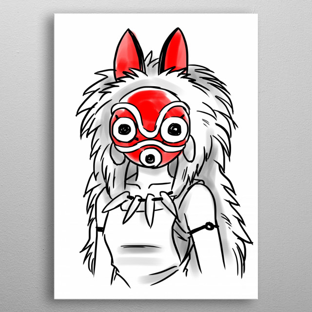 Wolf princess metal poster