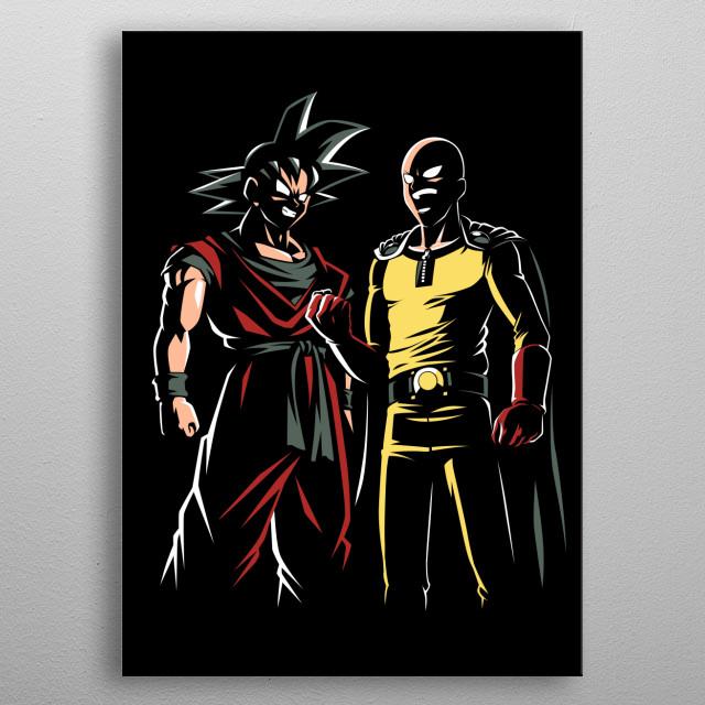 Two hero metal poster