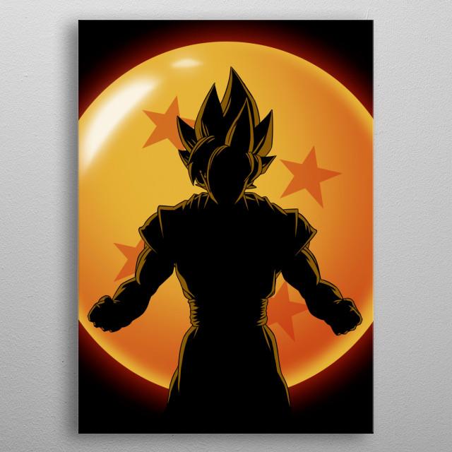 Supersaiyan Hero metal poster