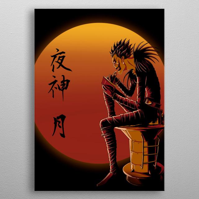 Ryuk on Sunset metal poster