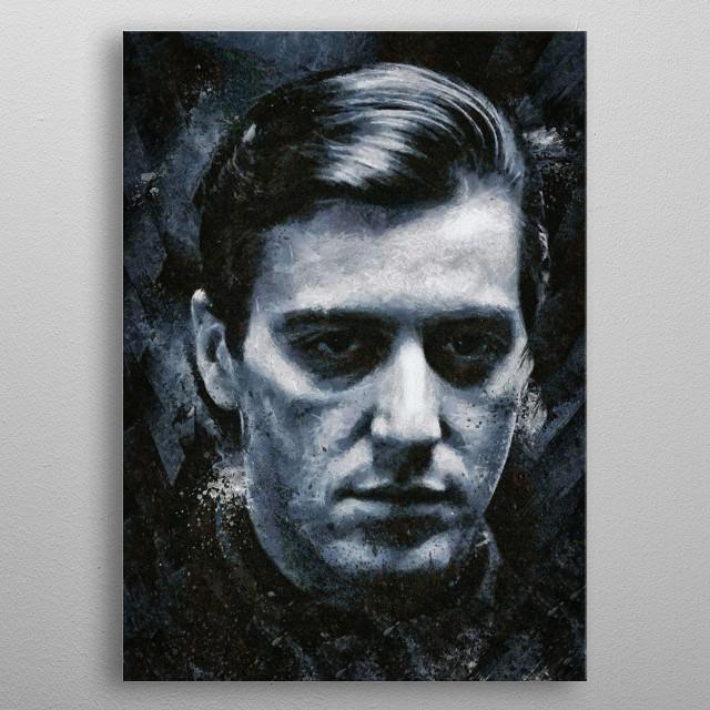 Michael Corleone metal poster