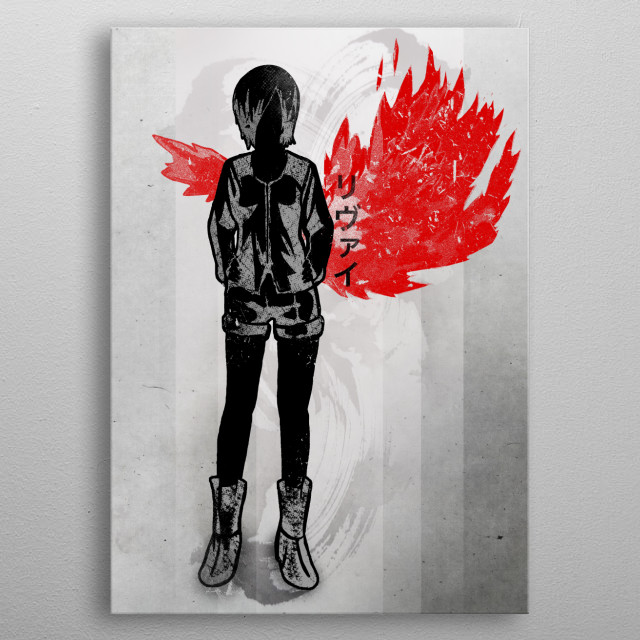 Crimson Touka metal poster
