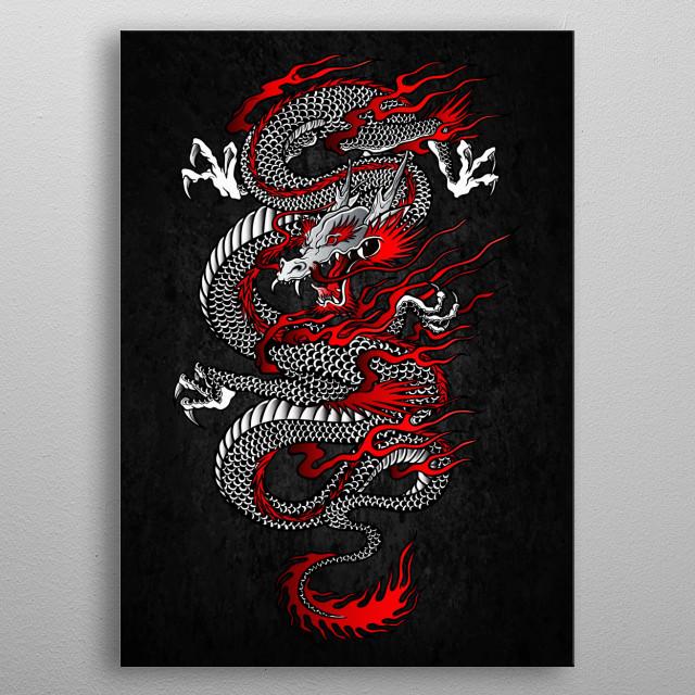 Asian Dragon metal poster