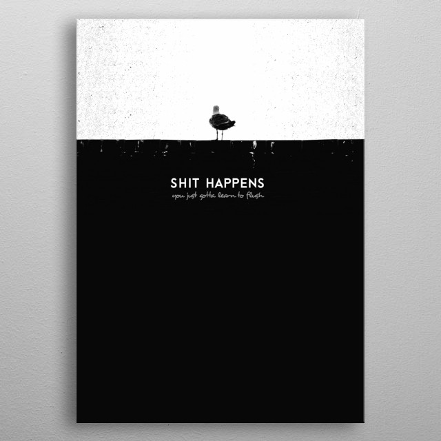 Have you ever thought the same? - This hilarious combination of written words and picture will always remind you to take life easy :) metal poster