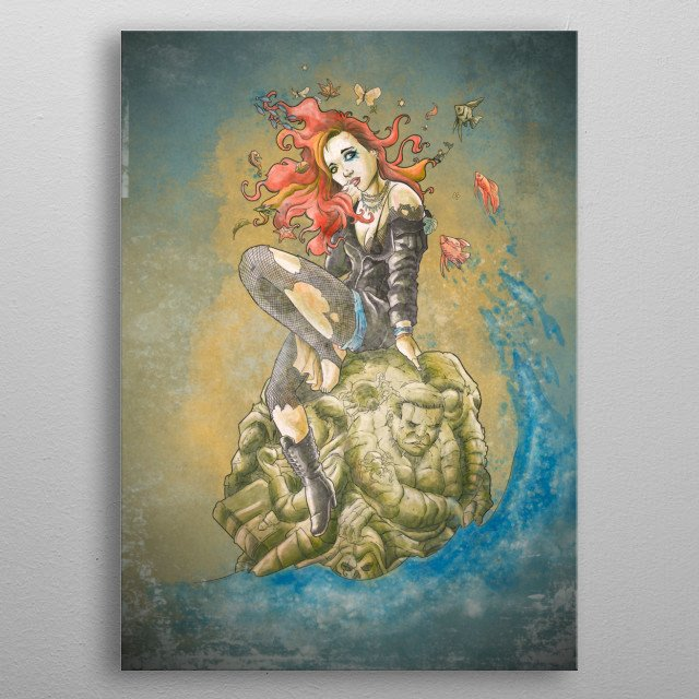 Fascinating  metal poster designed with love by saqman. Decorate your space with this design & find daily inspiration in it. metal poster