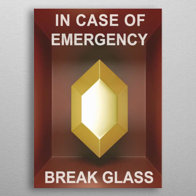 In case of emergency... Golden rupee! metal poster