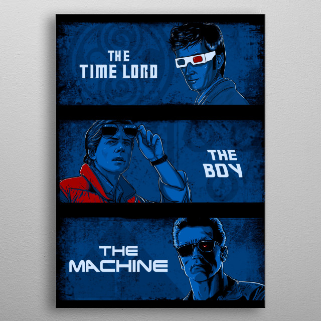 Time travelers :) metal poster