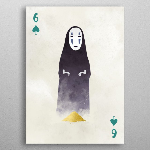 No-Face from Spirited Away. Illustration from my Ghibli cards series. metal poster