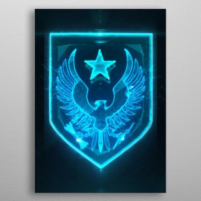 3D Light Spartan Emblem (modeling, post-production, edition & render in After Effects) metal poster