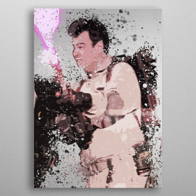 Stantz. Splatter effect artwork inspired by the Ghostbusters universe, 2 of 4. metal poster