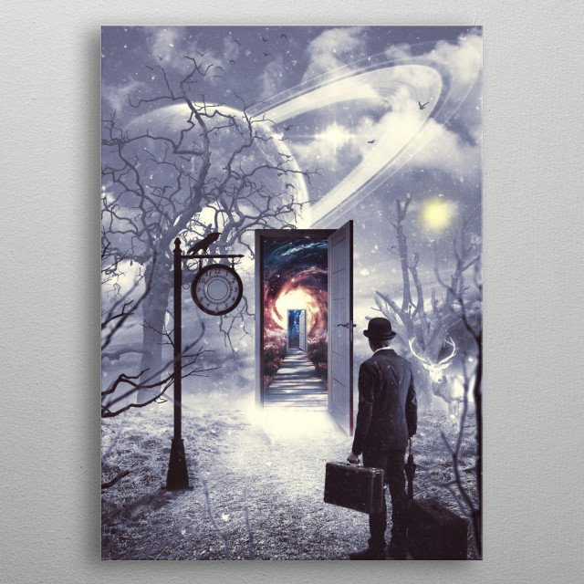Road Less Travelled 2 metal poster