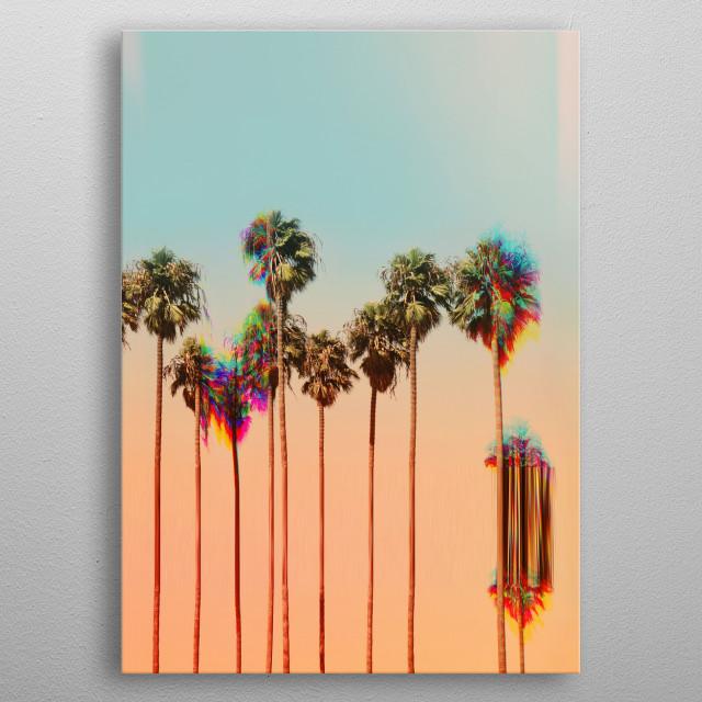 Glitch Beach metal poster
