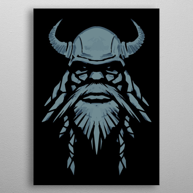 High-quality metal print from amazing Warriors collection will bring unique style to your space and will show off your personality. metal poster