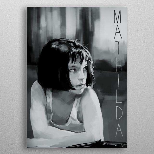 Leon The Professional film art metal poster