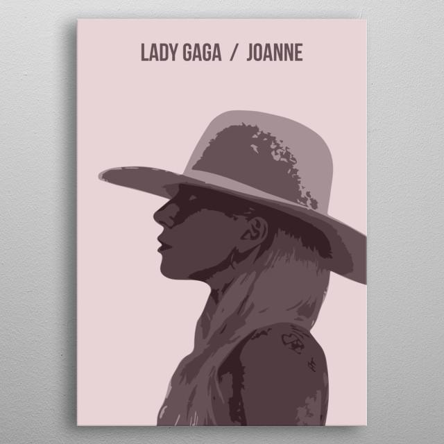Lady gaga / Joanne metal poster