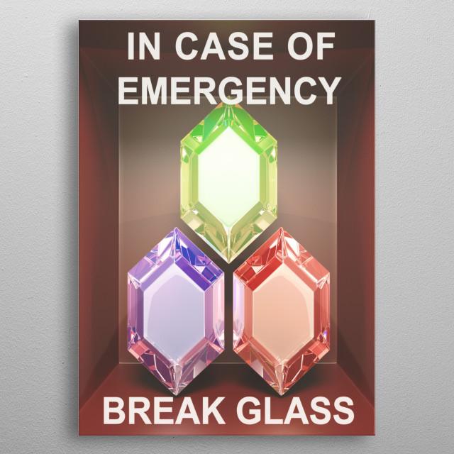 In case of emergency... Rupees metal poster