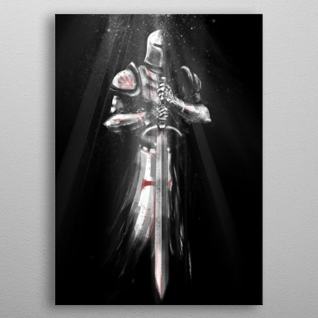 Crusader  metal poster