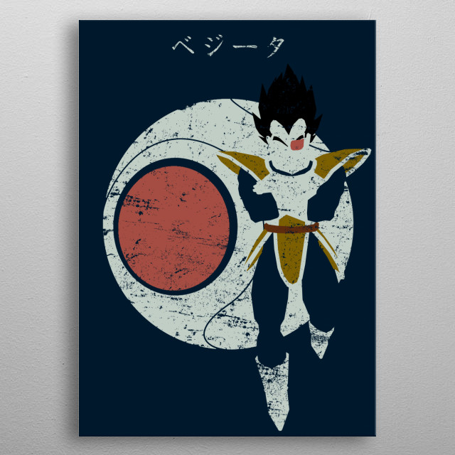 Searching for Kakarot metal poster