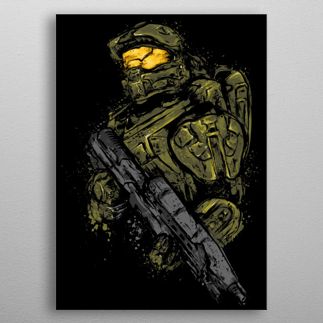 Master Chief metal poster