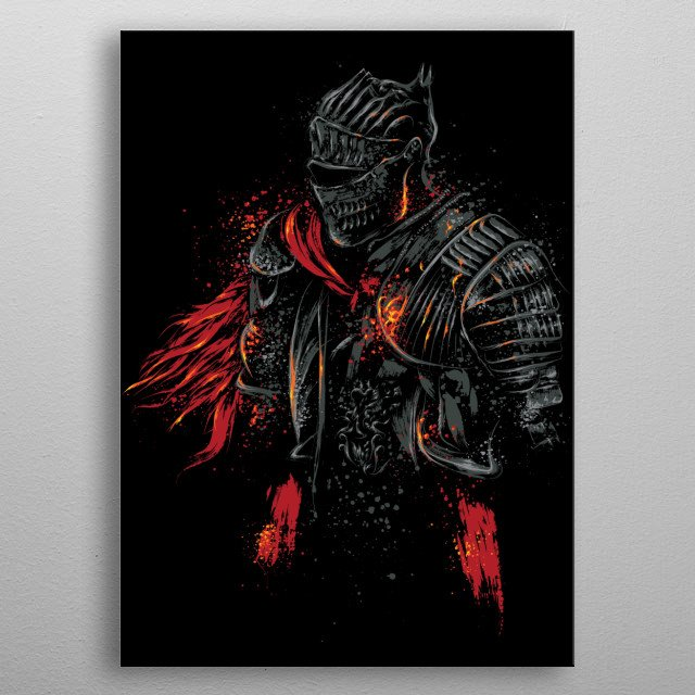 Red Knight metal poster