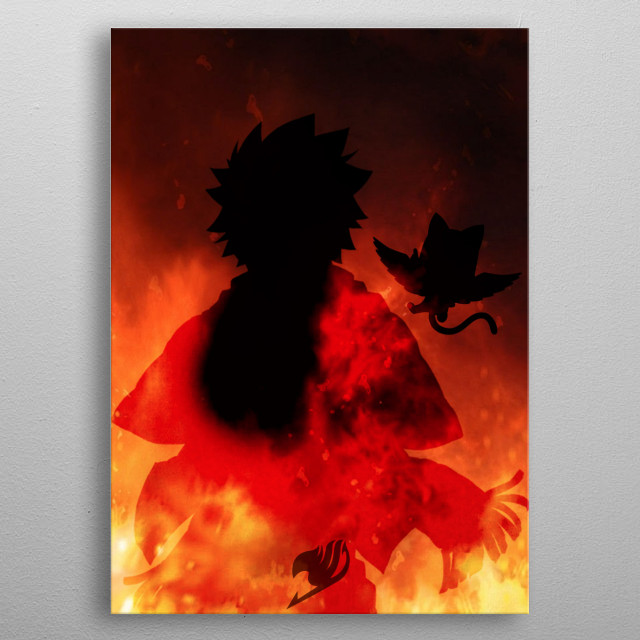 On fire metal poster