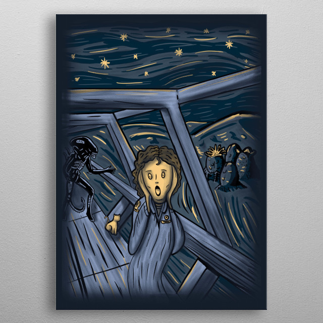 in space no one can hear you scream metal poster
